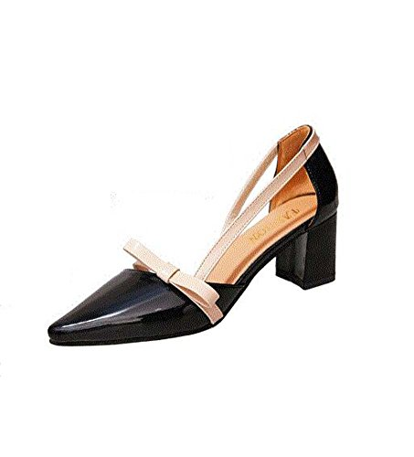 Heel Shoes Toe Black Orange Sandals Open Women's Beige For Low Black Comfort Walking MHX Shoes Summer Buckle Outdoor PU wARHnzxq0