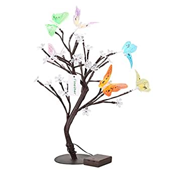 Finether 1 5ft Battery Operated Cherry Blossom Butterfly