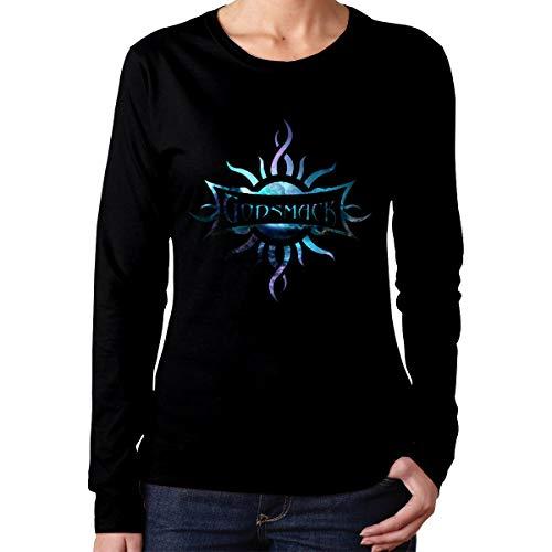WilliamWButler Godsmack Band Cotton Womens T Shirt Long Sleeve Fashion Woman Tee Shirt Short Sleeve Black XL