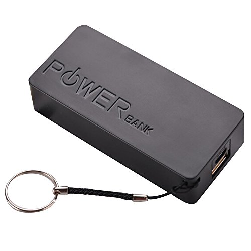 Huangou ❤ DIY Power Bank Case Box ❤ 5600mAh 2X 18650 USB Power Bank Battery Charger Case DIY Box for iPhone Sumsang (Black, 22X42X95mm)