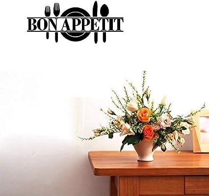 Amazon.com: bibitime Bon Appetit vinilo Kitchen Lettering ...