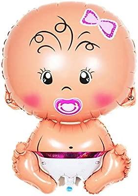 Lumanuby. 1 Globo de Aluminio Grueso para bebé y niña, para decoración de Navidad, cumpleaños, Bodas, Fiestas, Globos de Aluminio, niña, 75cm*48cm