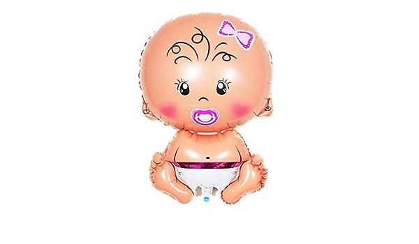 Jingyuu balón Mignon en Forma de bebé niña balón de Aluminio ...