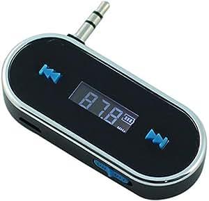 Wireless 3.5mm Car FM Transmitter For iPod iPad iPhone 4 4S 5 HTC Galaxy S2 S3 S4 Black