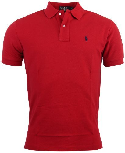 ns Classic Fit Mesh Polo Shirt - L - Red ()