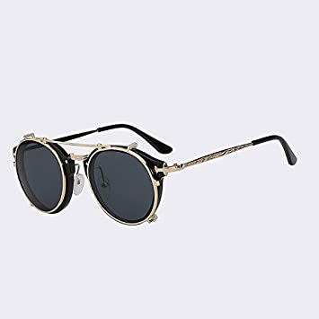 f5bdbbeef5 TIANLIANG04 Clip on Sunglasses Men Steampunk Women Drawing Brand Fashion  Vintage Glasses Back Fashion Sunglasses Oculos