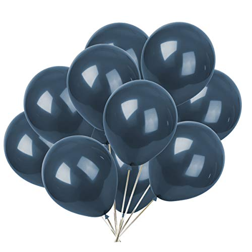 10 inch Latex Balloon Party Kit with 50 pcs (Navy Blue) ()