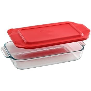 Amazoncom Pyrex Basics 3 Quart Glass Oblong Baking Dish Clear 89