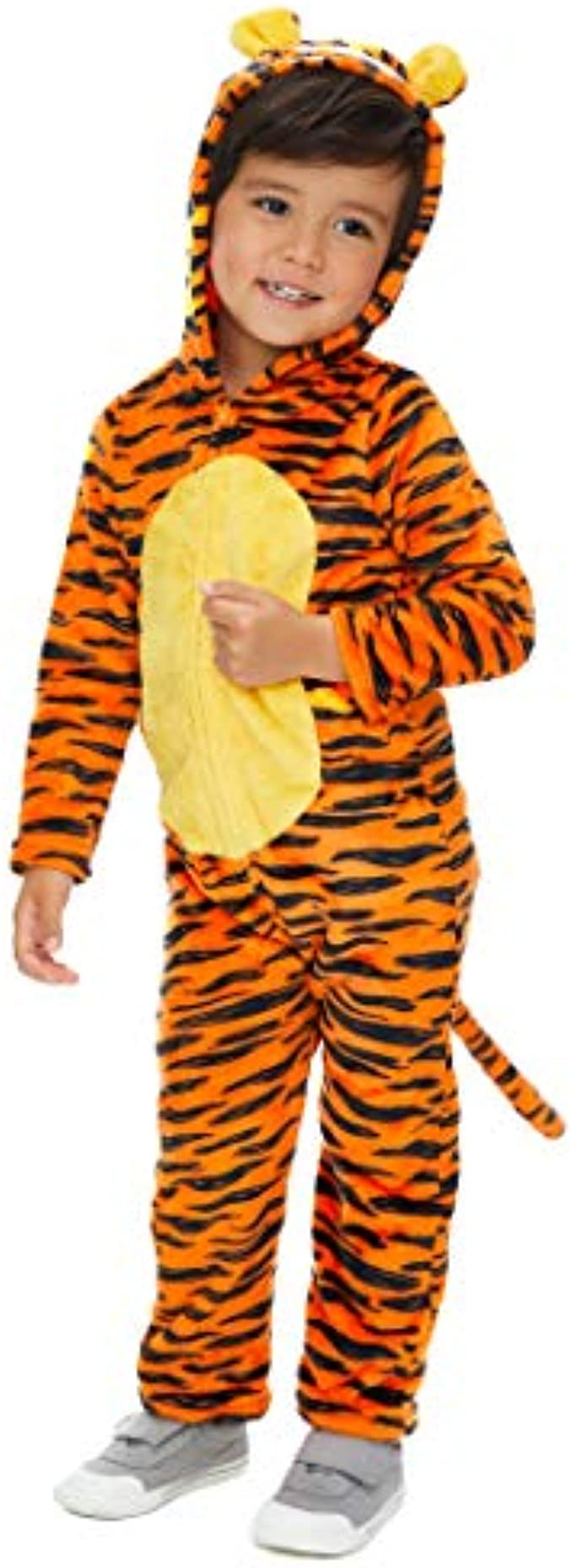 Disney Winnie The Pooh Boys' Fleece Costume Coverall with Hood