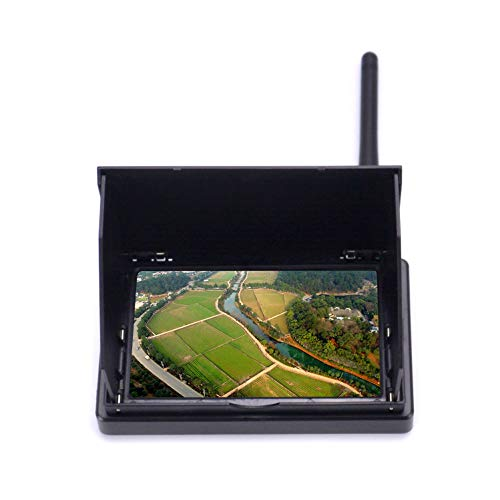 """Readytosky 4.3"""" FPV Monitor 48CH 480 x 22 LCD Wireless Receiver Monitor Built-in Battery with Sun Hood LCD Hood Shade for RC FPV Quadcopter"""