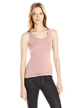 SUGARLIPS Women's Original Seamless Ribbed Tank Top, Babypink, One Size
