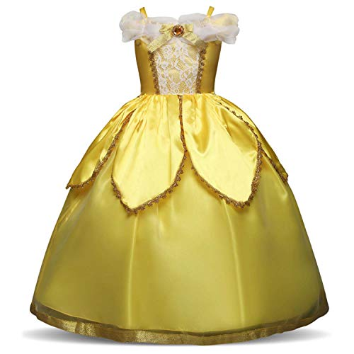 FuDaBang 8 Styles Girls Princess Dress Costume Birthday Party Cosplay Party Fancy Dress -