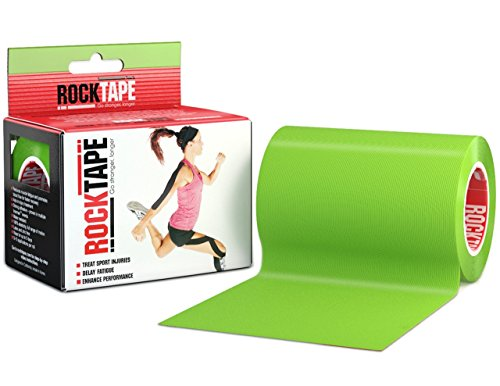 RockTape Active-Recovery Kinesiology Tape for Athletes - 4-Inch x 16.4-Feet, Lime Green