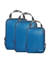 BAGAIL Cubos de embalaje de compresión ultraligeros de viaje, organizadores de embalaje expandibles para llevar en la mochila