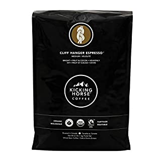 Kicking Horse Coffee, Cliff Hanger Espresso, Medium Roast, Whole Bean, Certified Organic, Fairtrade, Kosher Coffee, 35.2 oz