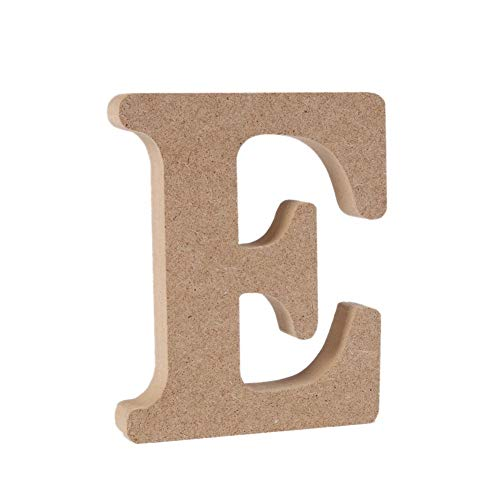 - Andision Decorative Wood Letters, Hanging Wall 26 Letters Wooden Alphabet Wall Letter for Baby Name Girls Bedroom Wedding Brithday Party (E)