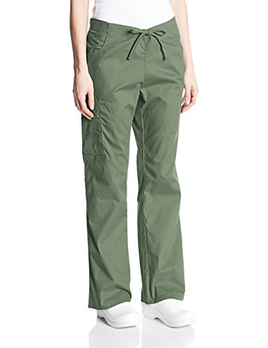 Dickies Women's EDS Signature Mid Rise Drawstring Cargo Pant, Olive, XX-Large (Stretch Signature Pants Twill)