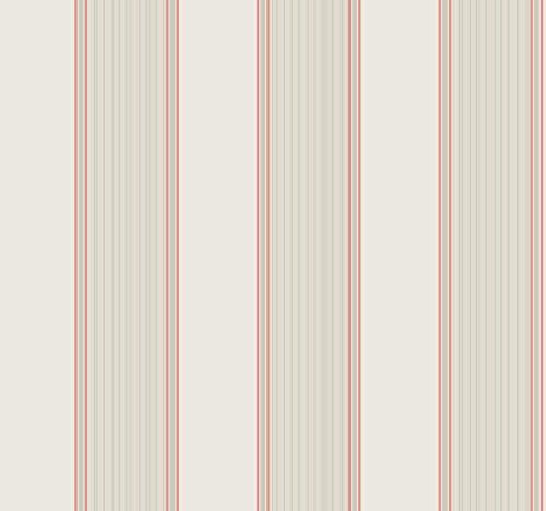 (York Wallcoverings Williamsburg III Somerset Strié Stripe Removable Wallpaper White)