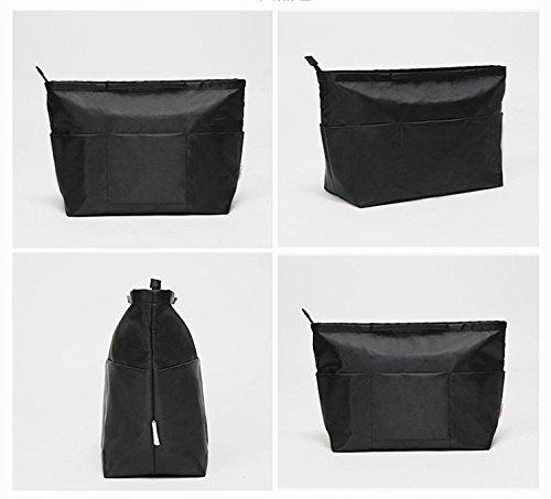 Insert Bag Organizer, Bag in Bag for Handbag Purse Organizer (Medium, Black) by favour (Image #9)