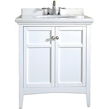 Genial Ove Decors Campo 30 White CAMPO30WHITE Bathroom 30 Inch Vanity Ensemble  With White Marble Countertop U0026