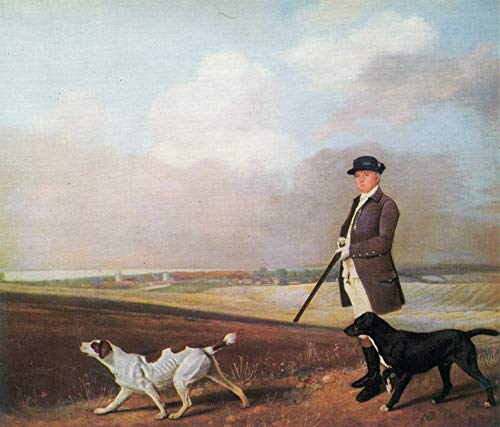 Home Comforts Peel-n-Stick Poster of Stubbs, George - Sir John Nelthorpe The Shoot with Two Shooting Dogs Vivid Imagery Poster 24 x 16 Adhesive Sticker Poster Print