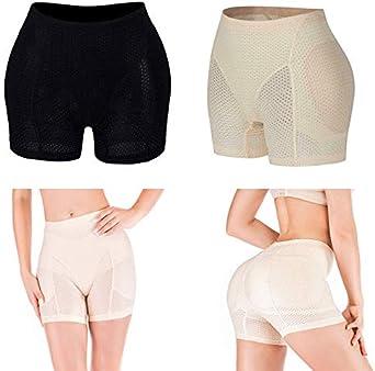 Tenrry Womens Boyshorts Panties with Butt Pads Hip Enhancer Body Sculpting Underwear
