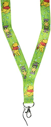 Cartoon Winnie the Pooh LANYARD mobile phone chain KEYS ID Neck (Pooh Key)