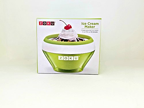 ZOKU Ice Cream Maker (5 fl. oz.) BPA, Phthalate Free - Stainless Steel - Green