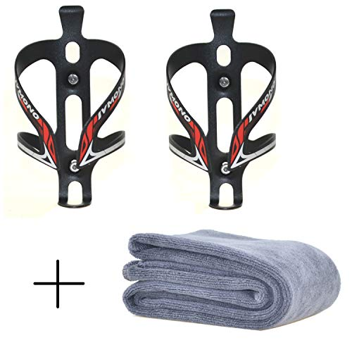 Star Brand Bicycle Bottles Cages 2 PCS | Bike Water Bottles Cages| Bicycle Aluminum Alloy Anti Rust Water Bottle Holder Aluminum Water Side Bottle Cages for Mountain Bike (RED, 2 Pack)