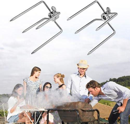2 Pcs Fourchette à Viande En Acier Inoxydable Barbecue Fourchette Grill Fourchette Outil De Barbecue à Rôtir Barbecue Multifonction Four à Griller