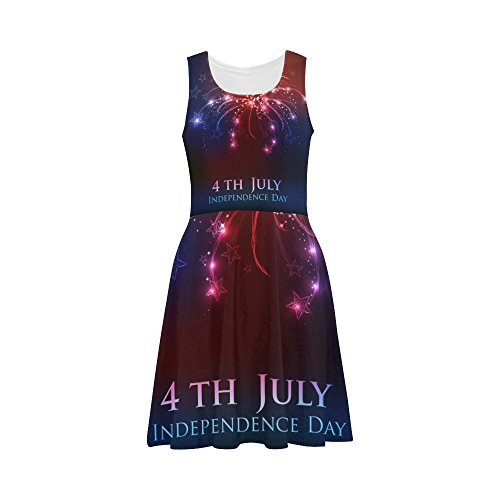 Women's Happy 4th Of July Patriotic Independence Day  Casual Sundress