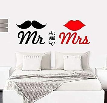 Paq Frase Vinilo Pareja Pared Dormitorio Mr And Mrs Vinilos Decorativos Vinilo Frases Motivadoras Para Paredpegatina De Pared 100x30cm