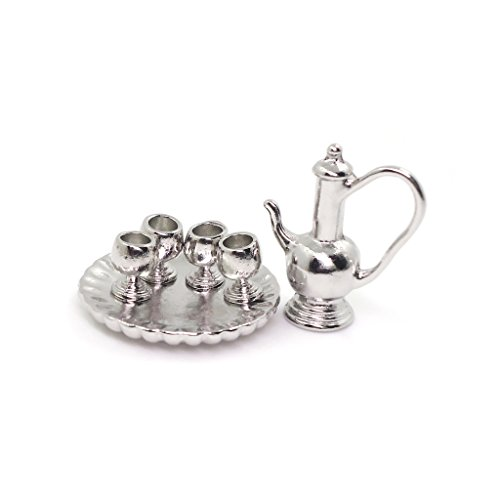 dollhouse silver tray - 5