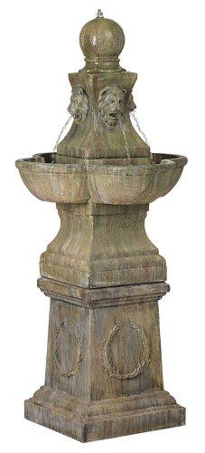"""Tuscan Garden Pedestal 54"""" High Outdoor Fountain"""