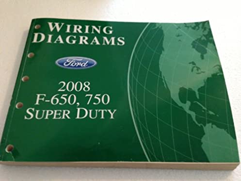 2008 ford f650 f750 super dutytruck wiring diagram manual original rh amazon com  2008 ford f750 wiring diagram