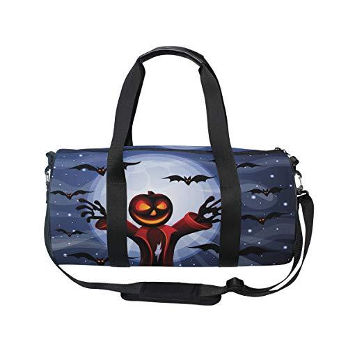 Large Sports Gym Bag Duffle Bag Halloween Pimpkin Unisex Travel Luggage ()