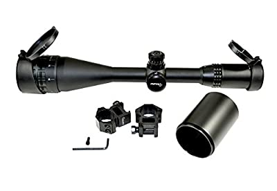 SNIPER® Rifle Scope 4-16x50mm with Tactical Lock Zero and Adjustment W/e and W Front Aol. Red/green/blue Illumination Mil-dot Reticle. Comes with Extended Sunshade and Heavy Duty Ring Mount and Lens Cover from Sniper