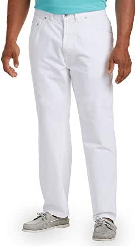 Nautica Big & Tall Loose-Fit White Jeans