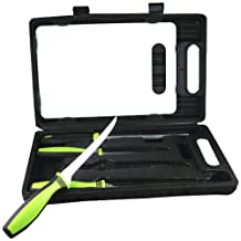 Sarge Knives SK-130 Fishing Kit with 6-Inch and 7-1/2-Inch Fillet knives, 4-3/4-Inch Blade Serrated Knife, Sharpener, Cutting Board and Carrying Case