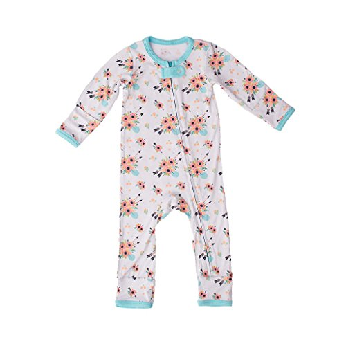 Kozi & Co..... Baby Romper Coverall, Long Sleeve - Bamboo Clothing - Infant Girls and Boys - by