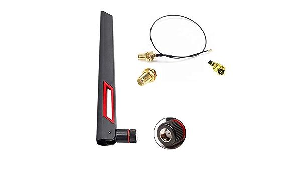 2.4G&5G - Antena Wi-Fi (10 dBi Atenna (W) con adaptador de 20 ...