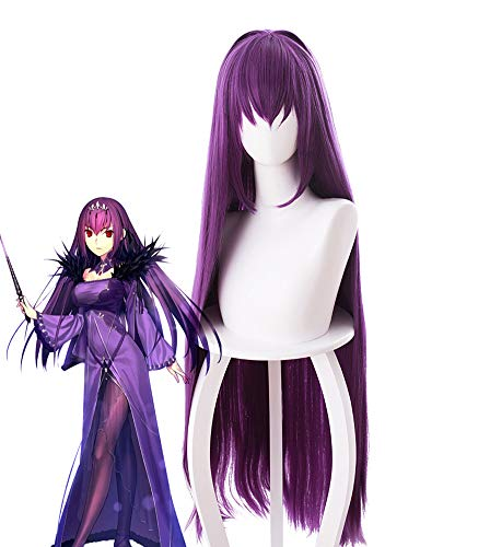 Telacos Fate/Grand Order FGO Scathach Cosplay Wig Cosplay Costume Hair Purple -