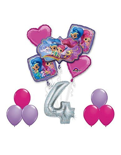Amazon SHIMMER AND SHINE Happy 4th Birthday Party 12 Pc