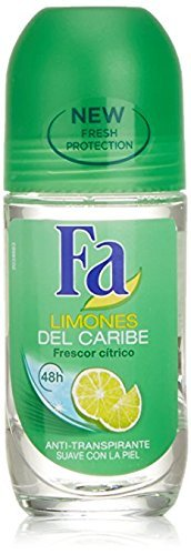 Hour Fa Deodorant 24 - Fa Deodorant 1.7 Ounce Roll-On Caribbean Lemon (50ml)