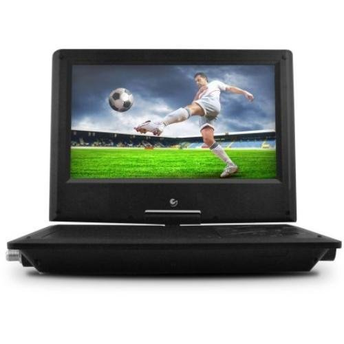 Ematic Portable DVD Player with 9-inch LCD Swivel Screen, Travel Bag, Headphones and TV Tuner, Black by Ematic