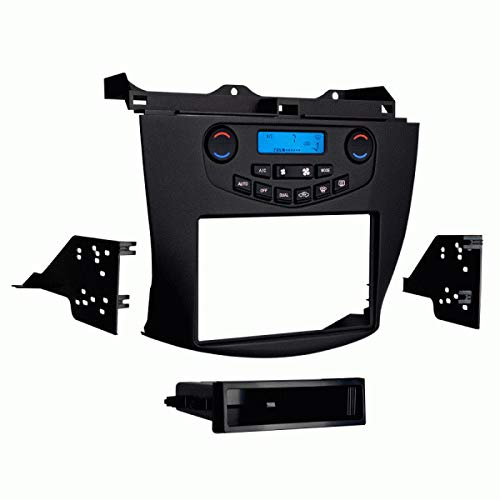 FidgetKute Metra 99-7803G Single/Double Din Install Kit W/Display for 2003-07 Honda Accord Show One Size