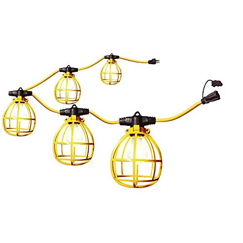 Construction String Lights 50ft Male Female End