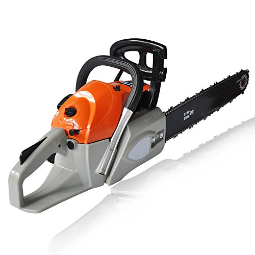 Jaketen 20-Inch 52cc/ 58cc/62cc petrol Chain Saw with Bar Cover, Tool Kit, Fuel Mixing Bottle (62cc) by Jaketen