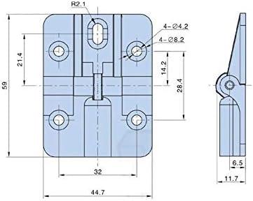 2Pcs//Lot 0 90 135 180 Degrees Adjustable lid Flap Folding Door Hinge Zinc Color: Chrome