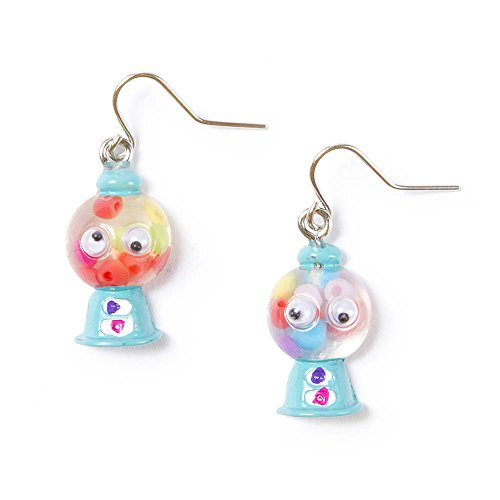 [Claire's Accessories Girls Googly Eyes Gumball Machine Drop Earrings] (Gumball Machine Costume For Kids)